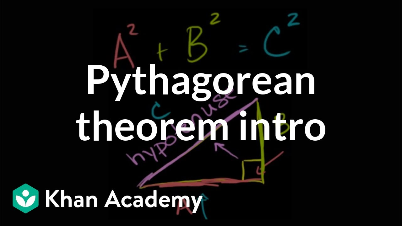 Intro to the Pythagorean theorem (video)   Khan Academy [ 720 x 1280 Pixel ]
