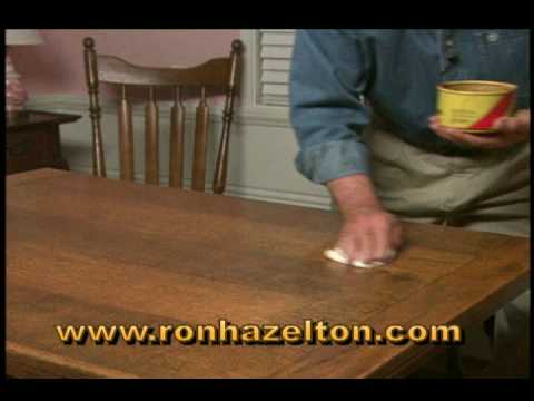 How To Clean And Wax A Wood Table Youtube