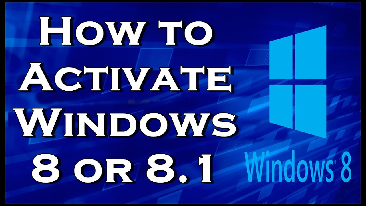 how to activate window8