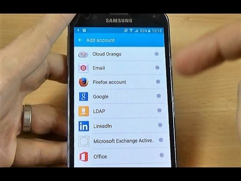 How to add or remove an Google account on Samsung Galaxy S5 Neo