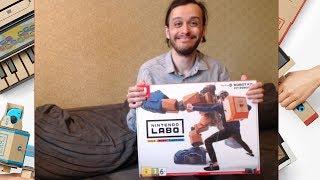 Собираем робота! - распаковка и знакомство с Nintendo Labo в реальном времени!