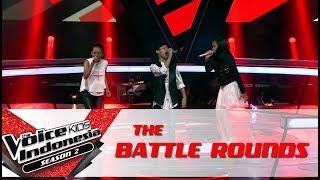 "Efah & Yonathan & Zahwa ""Dream On"" | Battle Rounds | The Voice Kids Indonesia Season 2 GTV 2017"