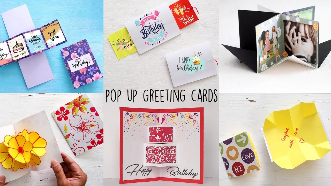 6 Easy Handmade Greeting Cards Pop Up Cards Paper Craft Ideas