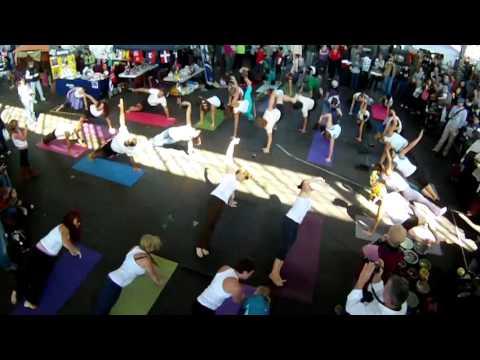 Yoga Flash Mob Chattanooga Market