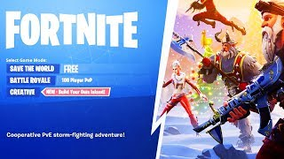 Get Fortnite Save The World for FREE!