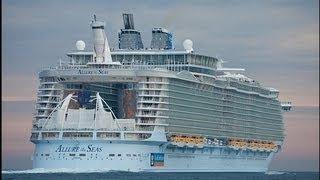 видео САМЫЙ большой в мире круизный лайнер «Оазис морей»