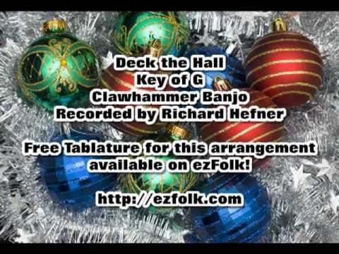 Deck the Hall - Clawhammer Banjo