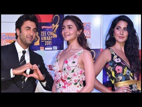 Ranbir Kapoor With GF Alia Bhatt And EX Katrina Kaif At Zee Cine Awards 2019