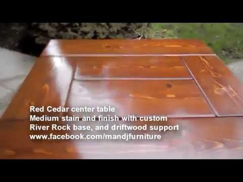 Red Cedar River Rock base Center Table