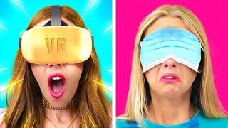 RICH UNPOPULAR GAMER vs BROKE POPULAR GAMER - Body SWITCH  Funny situations  by La La Life Games