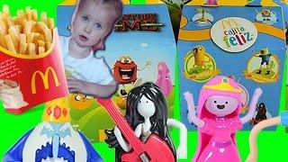 Vlog McDONALDS HAPPY MEAL Игрушки из мультфильма Время приключений