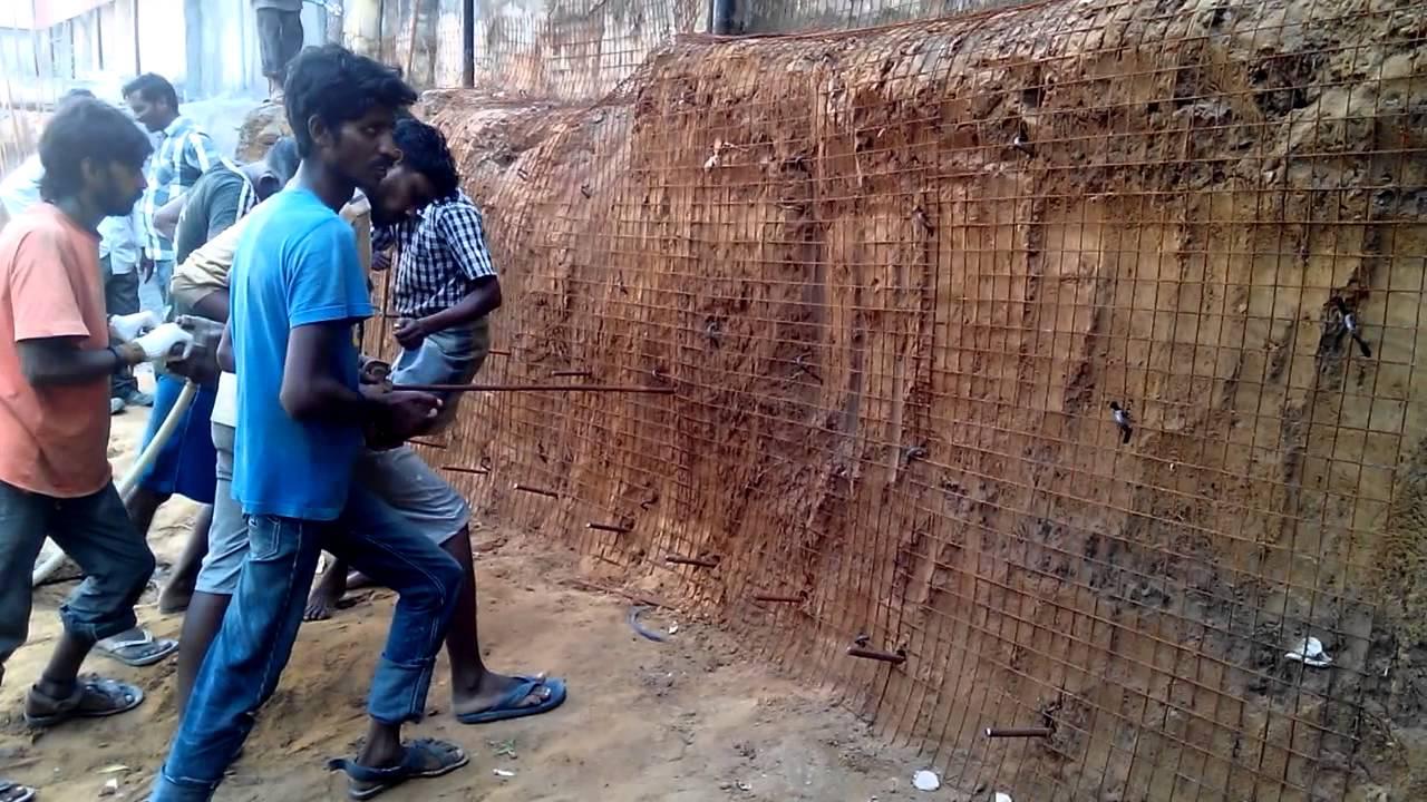 Soil nailing youtube for Soil nail wall
