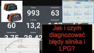 Samodzielna diagnostyka komputerowa samochodu, komputer do LPG interfejs diagnostyczny ELM327 i VCDS