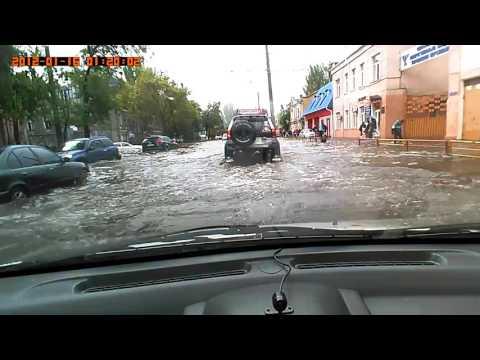 Потоп в Одессе 20.09.16. Проехал на Шевроле Авео 2006 год!