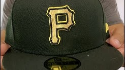 Pittsburgh Pirates GOLD METALLIC STOPPER Black Fitted Hat by New Era