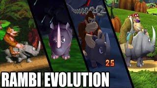 Evolution of Rambi, the Rhino (1994 - 2018)