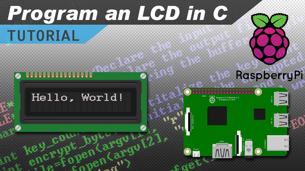how to setup an lcd on the raspberry pi and program it with c youtube rh youtube com wiring pin connector wiring pin connectors kits