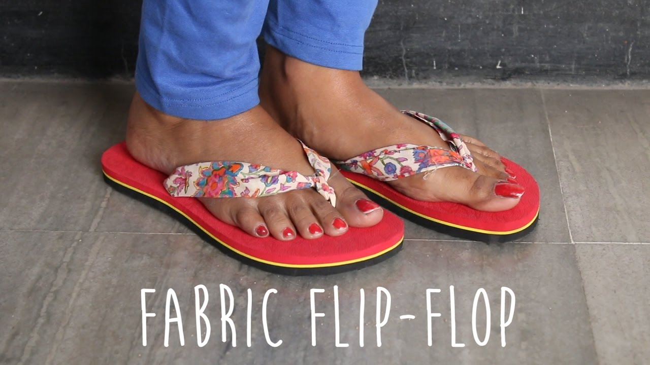 14de7789c DIY   Fabric Flip Flop - YouTube