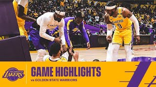 HIGHLIGHTS   LeBron James (22 Pts, 10 Ast, 11 Reb) Vs Golden State Warriors