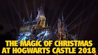 The Magic of Christmas at Hogwarts Castle Bridge View | Wizarding World of Harry Potter