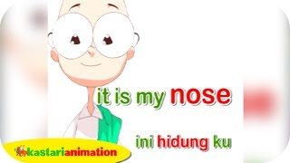 Repeat youtube video Belajar Bahasa Inggris part 2 | Part of the Body - Kastari Animation Official