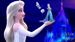 Elsa WHITE DRESS Frozen 2 becomes GIANT ! Queen Elsa White dress Frozen 2 and Queen Elsa Blue dress
