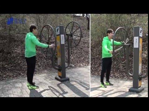 양재천 공원 운동기구 사용법 - 터닝암