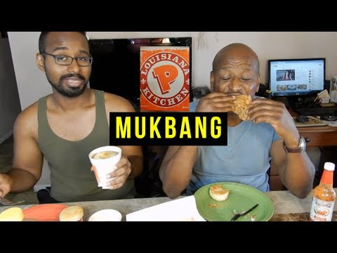 MUKBANG | Popeye's Spicy Fried Chicken| Eating Show |