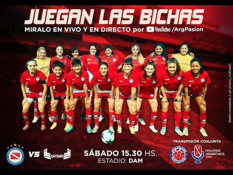 #FútbolFemenino   Primera B   Fecha 1   Argentinos Juniors - SATSAID