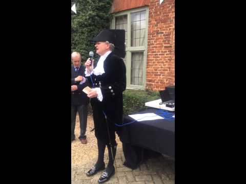 Berden Fete 2014 - The High Sheriff of Hertfordshire and Sir Alan Haselhurst