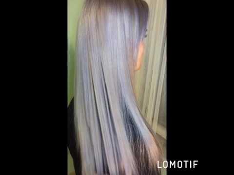Окрашивание в серый цвет. Холодный оттенок, серые волосы , седые . Холодный блонд .