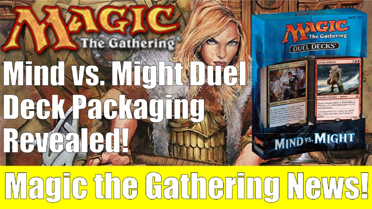 Mtg Mind Vs Might Duel Decks Packaging And Premium Cards