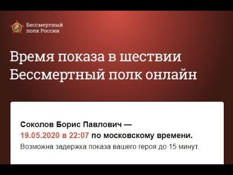 Всероссийская акция «Бессмертный полк» онлайн 2020 Соколов Борис Павлович