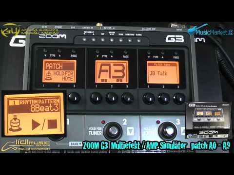 0341 ZOOM G3 sound demo patch A0 - A9