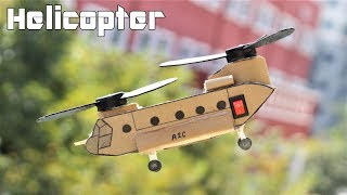 how to make a military helicopter electric ch47 helicopter