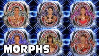 Mighty Morphin Power Rangers - All Ranger Morphs | Season 2 Episodes 1-52 | Morphin Time Superheroes