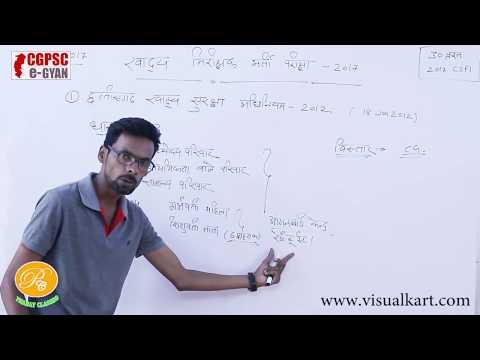 Chhattisgarh Food Security Bill | छत्तीसगढ़ खाद्य सुरक्षा 2012 | Food Inspector | Cgvyapam