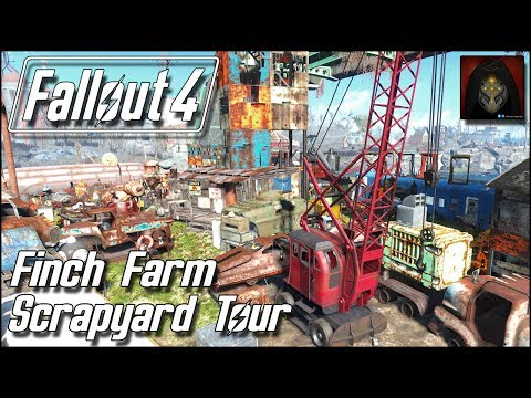 Fallout 4   Finch Farm Scrapyard - Complete Settlement Tour