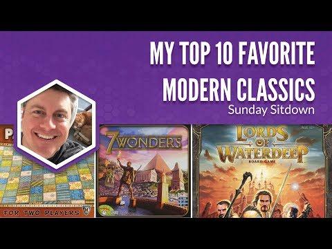 My Top 10 Favorite Modern Classic Board Games