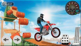 Bike Stunt Race 3D Bike Racing Games - Bike Games Gameplay screenshot 2