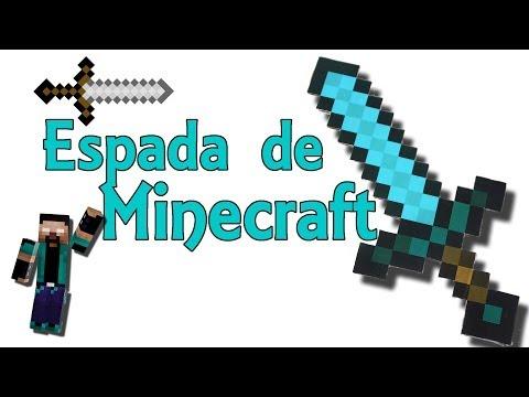 Espada de Minecraft casera - Minecraft en la vida real (Experimentos Caseros)
