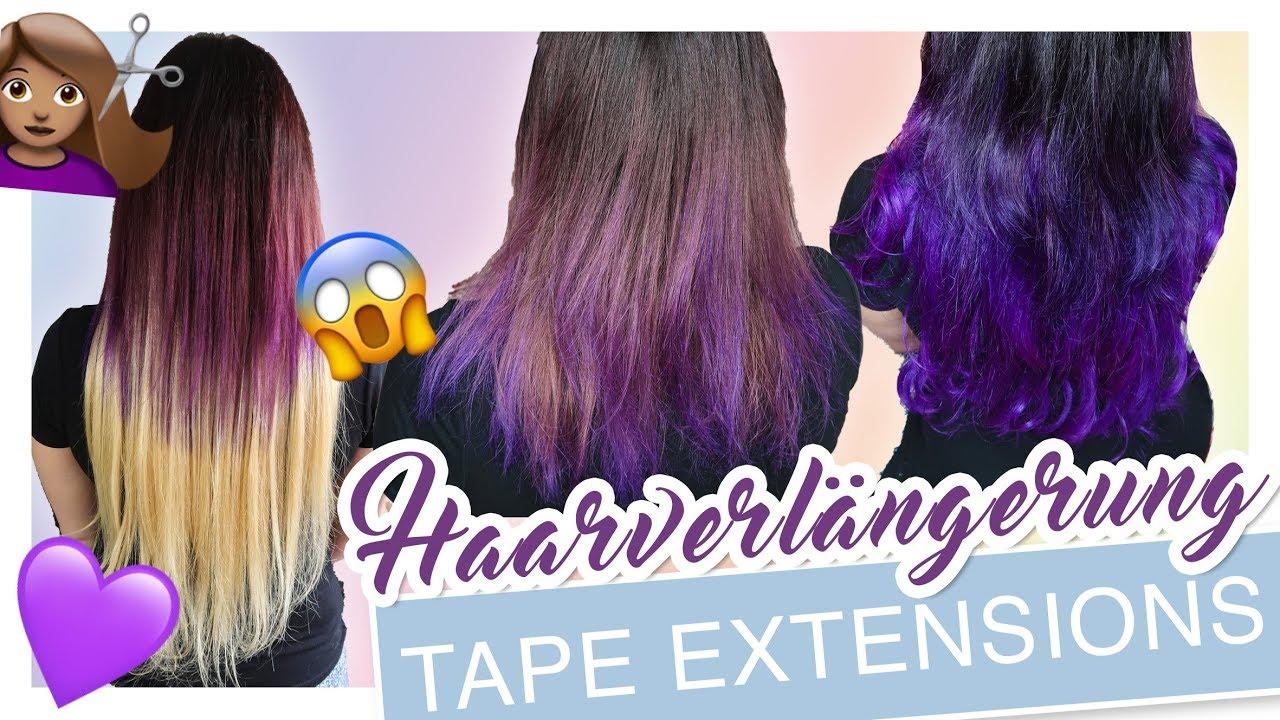 Ich Bekomme Lange Haare Tape In Extensions Tutorial Yoonessa