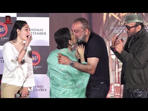 Download Manisha Koirala Give Special Gift To Sanjay Dutt In Front Of Manyata Dut At TEASER LAUNCH PRASTHANAM