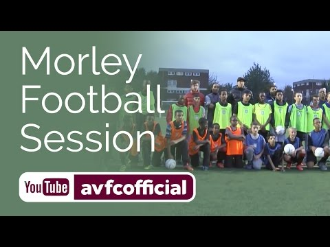 Tony Morley helps run local football session