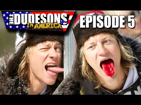 BLOODY TONGUE STUCK TO A FROZEN POLE - Dudesons In America Episode 5