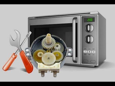 В микроволновой печи не крутится еда блюдо. Заклинил редуктор. Ремонт мотора микроволновки