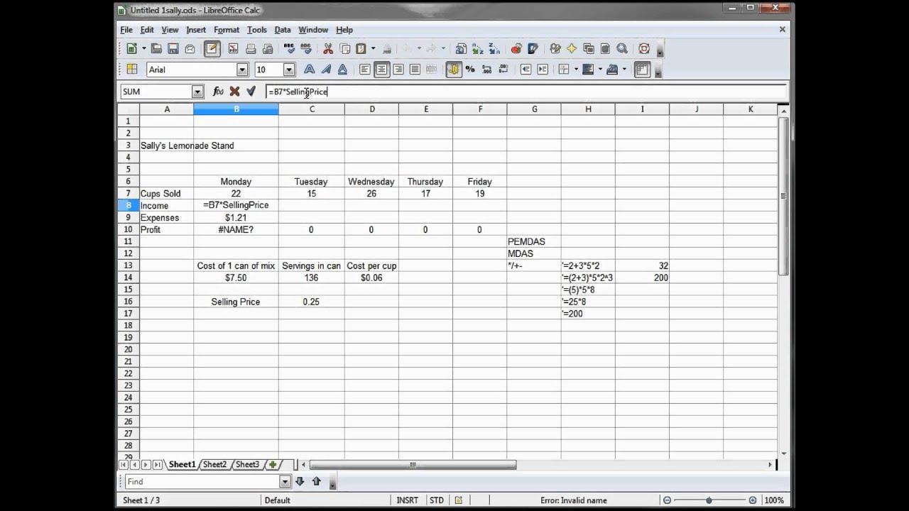 office define. 8 - Libre Office Calc, Open Excel Tutorial -- Define Cells By Names