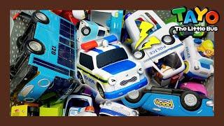 ¡El coche de policía Pat necesita ayuda! l Tayo escuadrón de vehículos l Juguetes Tayo lTayo autobús