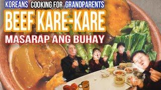 [Cooking #18] Koreans cooking Beef Kare-Kare for grandpa | Mukbang | Masarap ang buhay