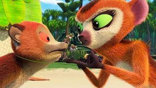 Viva el Rey Julien | Comer, Rezar, Empujar | All Hail King Julien | Madagascar | Dibujos Animados